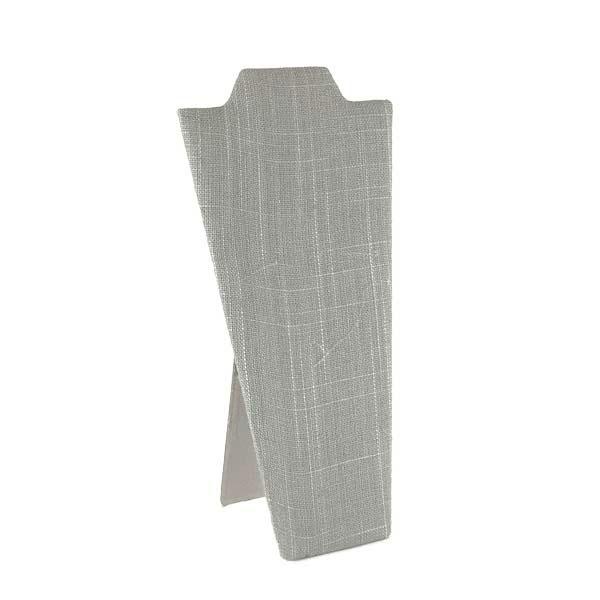 grey linen easel neckpace display