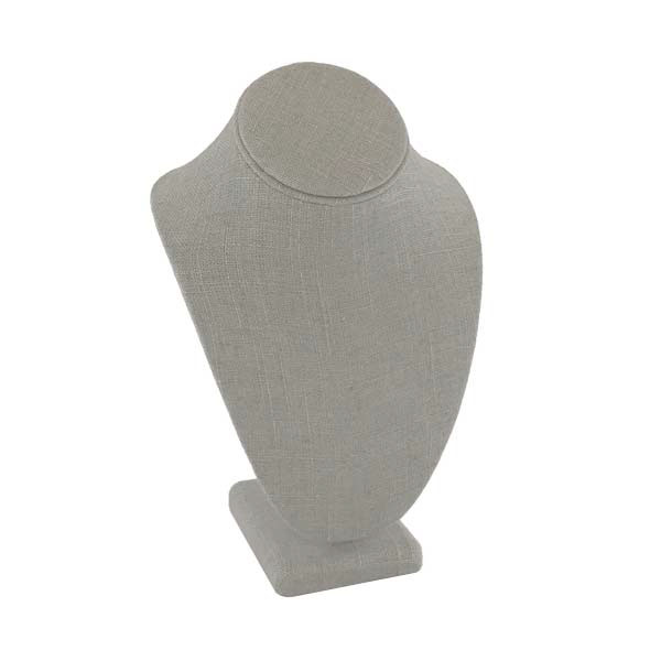 Grey Linen stand up bust necklace display
