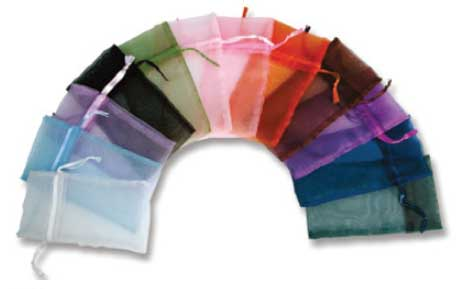 assorted organza bags
