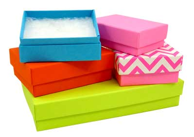 bright colored jewel boxes