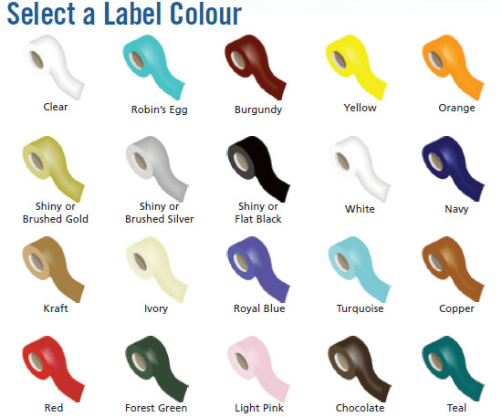 Hot Stamp Label Colors