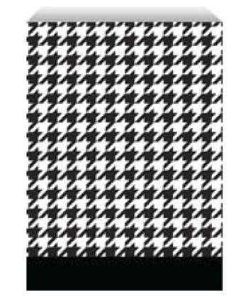 houndstooth paper bag