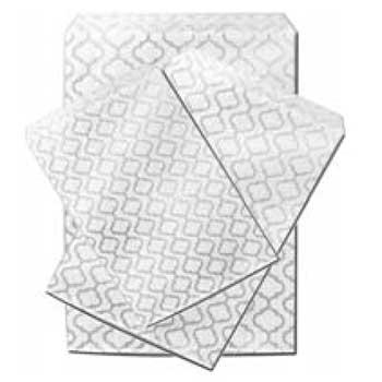 silver swirls paper bags