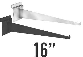 Slatwall Shelf Bracket 16 Black