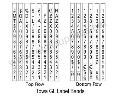 Towa GL 2 Line Label Gun Label Bands