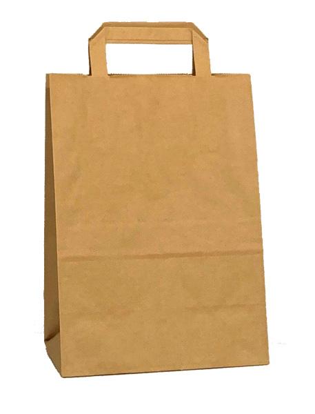 Square Handle Kraft Paper Shopping Bags