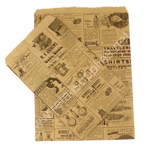 Newsprint Paper Accessory Bags