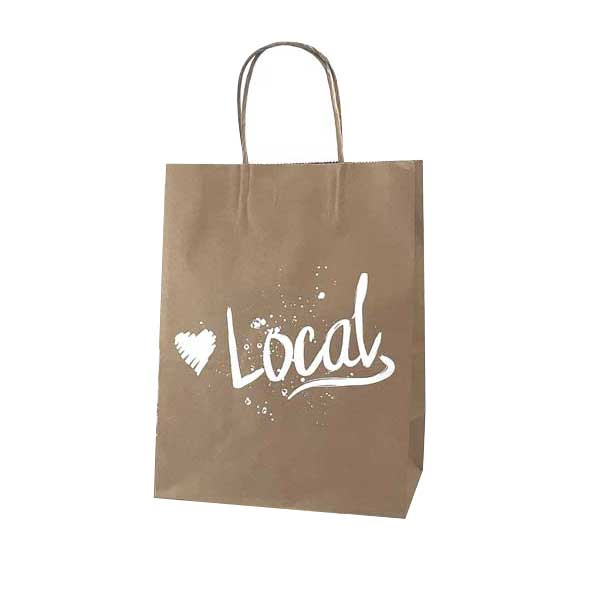 Love Local Kraft Paper Shopping Bags