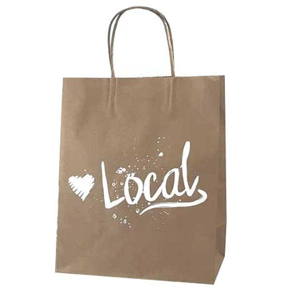 Love Local Kraft Paper Shopping Bags