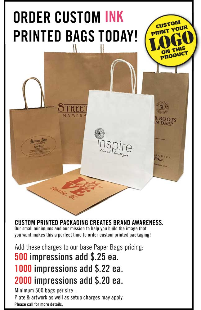 custom printed paper shopping bags