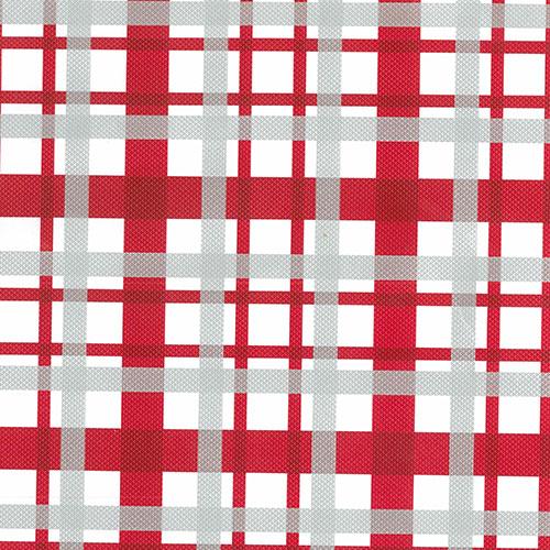 "24"" x 200 ft. 0266 Red & White Plaid Gift Wrap - SKU: 4302662"
