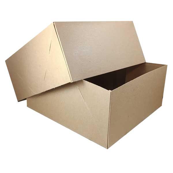 "#102 Kraft 10"" x 2-3/4 x 2-3/4 China Box - SKU: 612657"