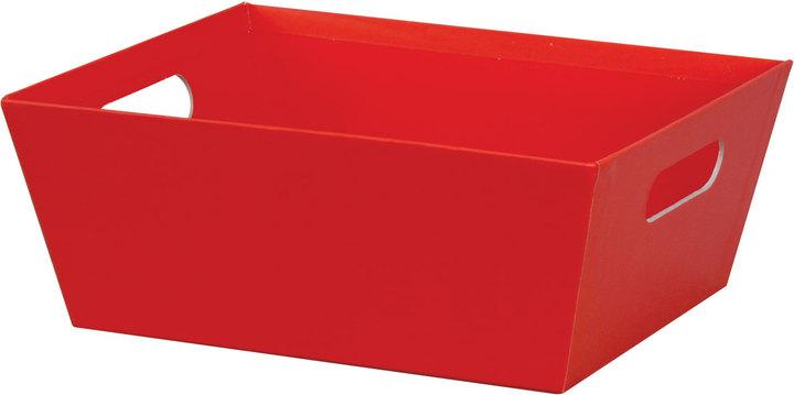 """Red Basket Tray - 12""""l x 9-1/2""""w x 4-1/2""""h - SKU: 602805"""