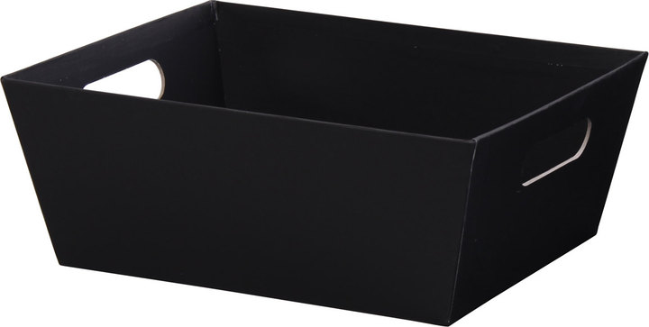 "Black Basket Tray - 9""l x 7""w x 3-1/2""h - SKU: 602815"