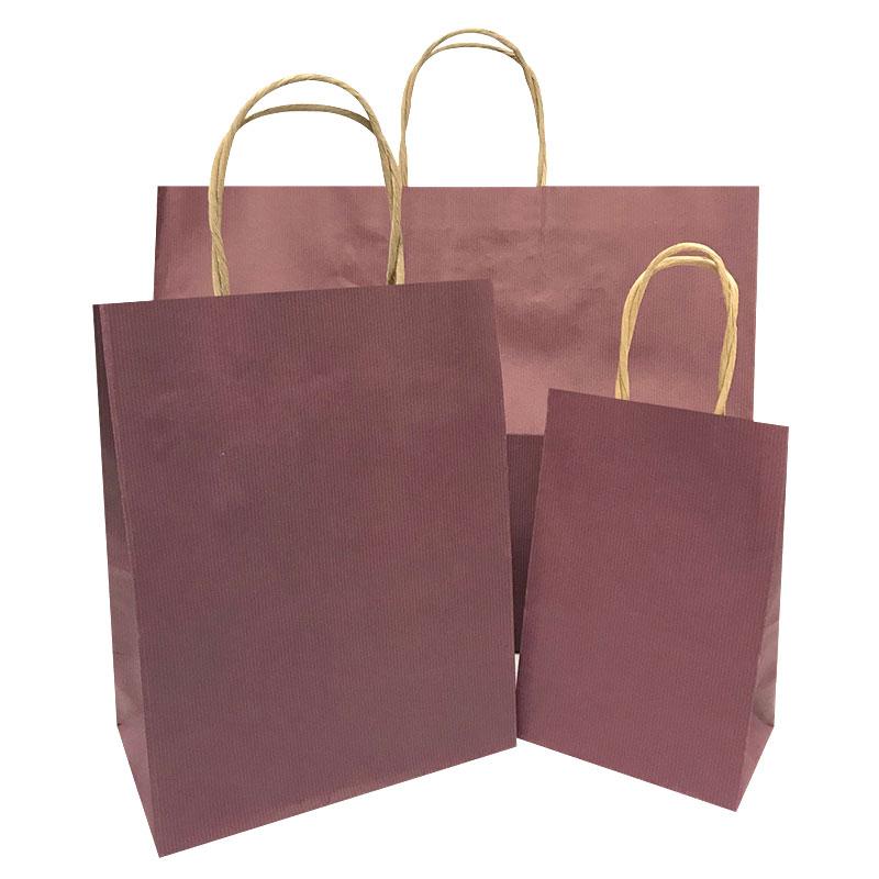 Prime-Gem Wine Pinstripe Shopping Bags per 100 - SKU: 669045