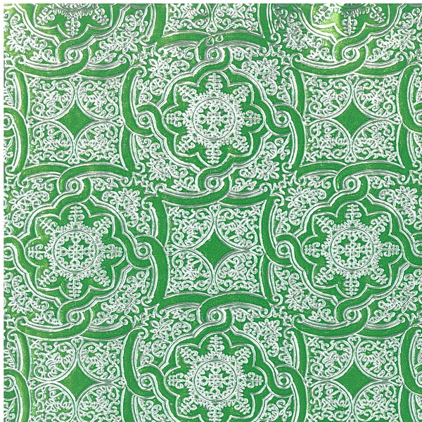 "24"" x 200 ft. 8576 Kelly Green Embossed Gift Wrap  - SKU: 4385762"