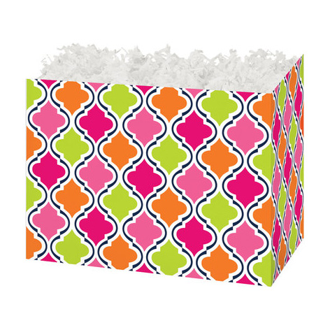 "Modern Moroccan Small Basket Box - 7"" x 4"" x 5"" - ea. - SKU: 100294"