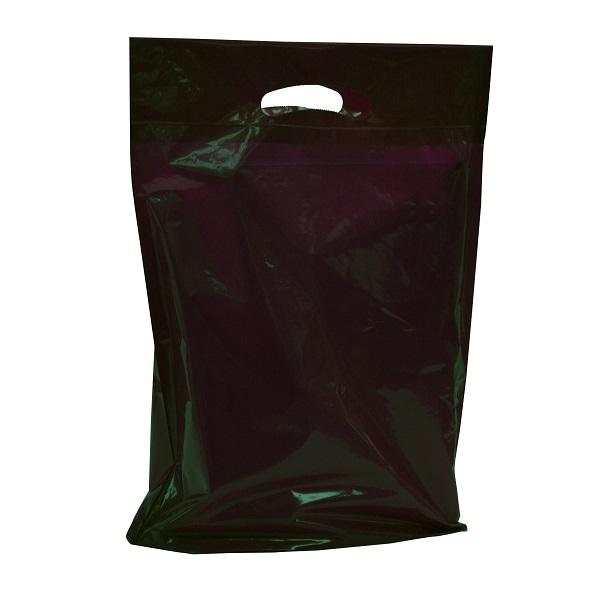 "Large - 20"" x 23"" x 5"" Black Boutique Bags per 500  - SKU: 671501"