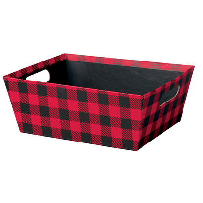 "Rustic Winter Large Basket Tray - 12"" x 9-1/2"" x 4-1/2""  - SKU: 602804"