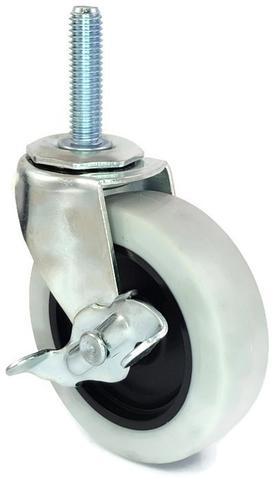 """2-1/2"""" with 3/8"""" stem and brake Urethane Caster - SKU: 240298"""