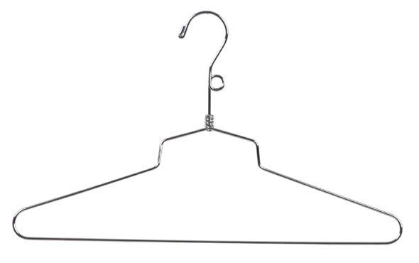 "SLD/16LH 16"" Chrome Dress Hangers - SKU: 220015"