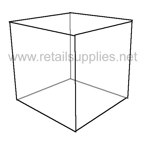 """6""""x6""""x6"""" Acrylic Cube Display - SKU: 291040"""