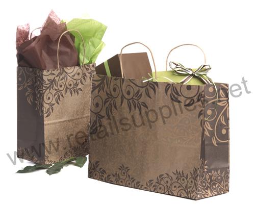 Fashion-Tote Sumatra Paper Shopping Bags - SKU: 667320