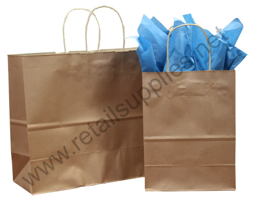 Saville-Towner Metallic Copper Paper Shopping Bags - SKU: 669774