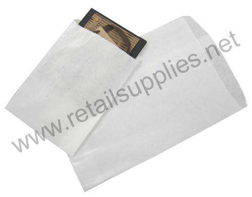 """5"""" x 7"""" white White Paper Accessory Bags - SKU: 660582"""