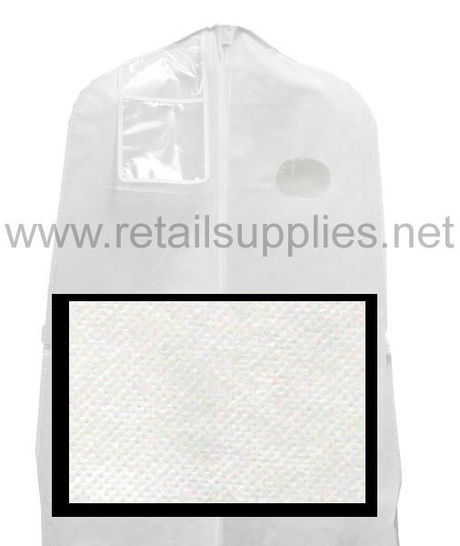 "72"" White Fabtex 10"" Gusset Bridal Bag unprinted - SKU: 222076"