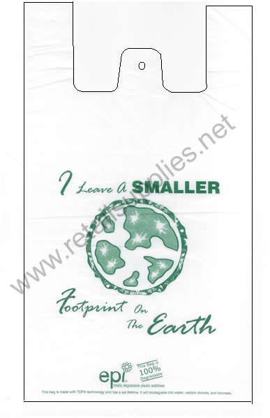 "12""x7""x22"" Biodegradable T-Shirt Bags bx 1000 - SKU: 640425"