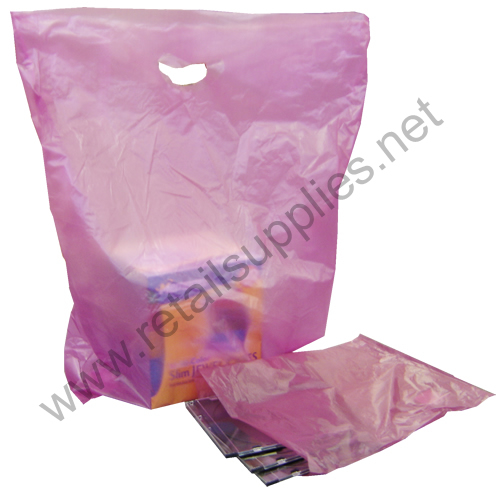 "12""x15"" Burgundy High Density Bags box 1000 - SKU: 674220"