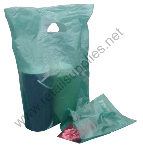 """13""""x3""""x21"""" Dark Green High Density Bags box 500 - SKU: 676354"""