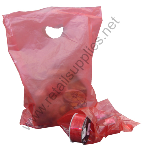 "13""x3""x21"" Red High Density Bags box 500 - SKU: 676312"