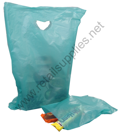 "13""x3""x21"" Teal High Density Bags box 500 - SKU: 676332"