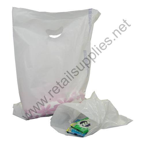 "12""x15"" White High Density Bags box 1000 - SKU: 674200"