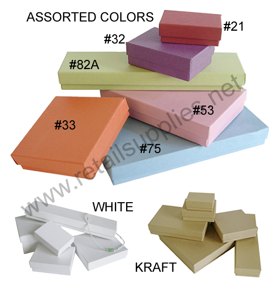 White Assorted Jewellery Box Package-72 assorted boxes - SKU: 610300