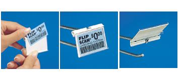 "2-1/2"" wide Flip Scan Label Holders - SKU: 262590"