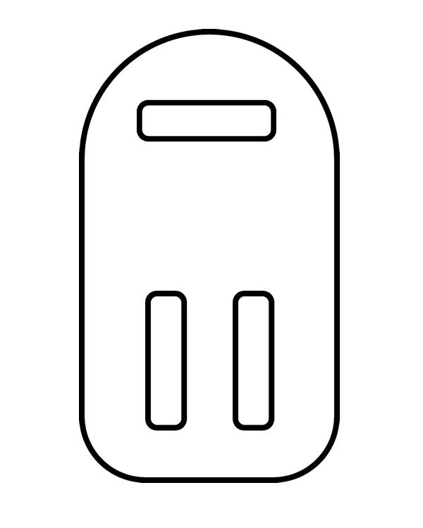 """2"""" Clear Each 2"""" Hanger Drop Loops - ea. - SKU: 221923"""