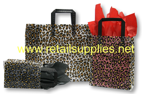 "Prime 5"" x 3"" x 7"" Leopard Frosted Shoppers - SKU: 665591"