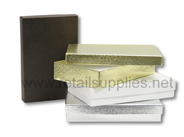 "Silver #53 Premium 5-1/4""x3-3/4""x7/8"" Jewellery Box - SKU: 611271"