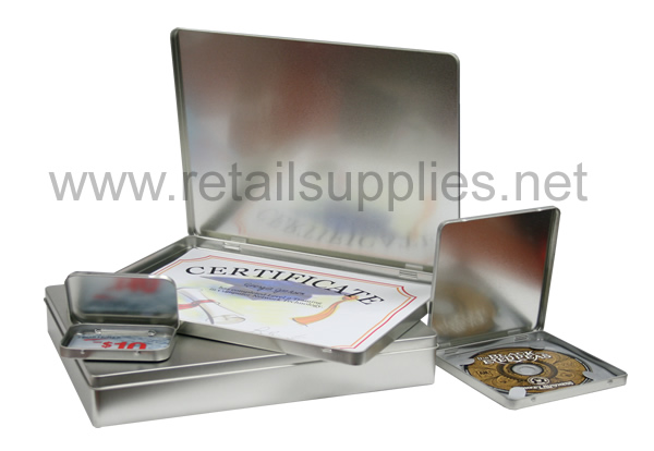 "3-11/16"" x 2-1/2"" x 3/8"" Hinged Tin Boxes - SKU: 616055"