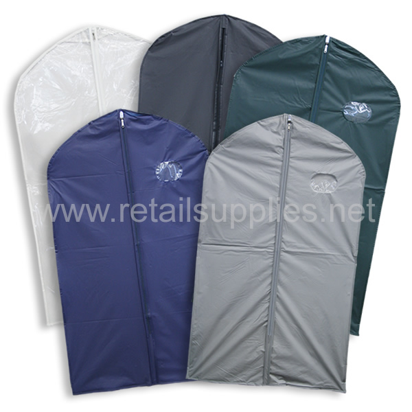 "Black 40"" Vinyl Zipper Suit Bags unprinted - each - SKU: 222012"