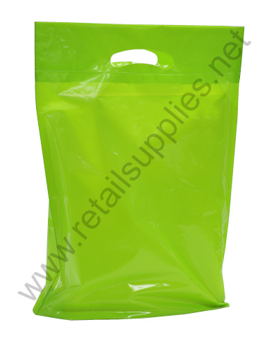 "Medium 16""x18""x4"" Citrus Lime Boutique Bags per 500 - SKU: 671452"