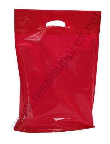 "Medium 16""x18""x4"" Red Boutique Bags per 500 - SKU: 671412"