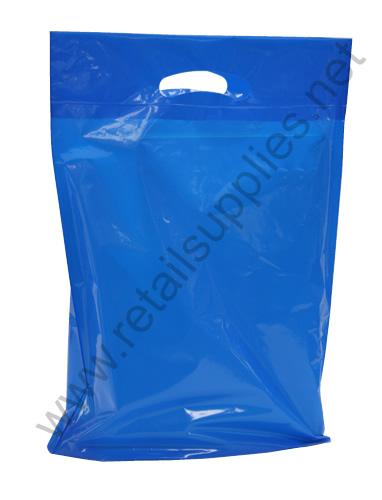 "Medium 16""x18""x4"" Reflex Blue Boutique Bags per 500 - SKU: 671440"