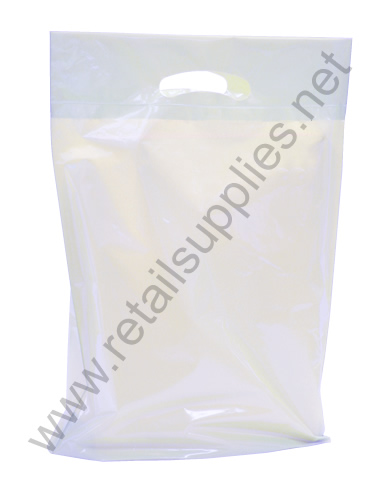 "Petite 9""x11.5""x2"" Clear Frosted Boutique Bags per 500 - SKU: 671203"