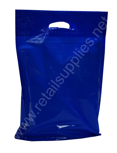 "Large 20""x23""x5"" Dark Blue Oxo-Biodegradable Boutique Bags per 500 - SKU: 671136"