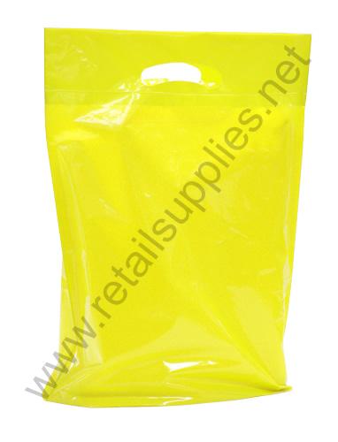 "Medium 16""x18""x4"" Yellow Oxo Biodegradable Boutique Bags per 500 - SKU: 671050"