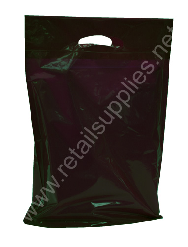 "Medium 16""x18""x4"" Black Oxo-Biodegradable Boutique Bags per 500 - SKU: 671001"